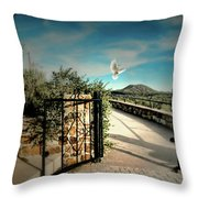 Gate To The Martyrs Throw Pillow