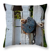 Gate Secured Throw Pillow