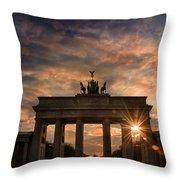 Gate Sunset Throw Pillow