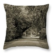 Gate To Magnolia Plantation Throw Pillow
