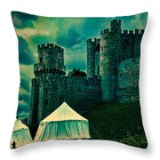 Gate Tower At Warwick Castle Throw Pillow
