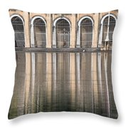Gated Reflections Throw Pillow