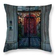 Gates Of Charleston Sc Throw Pillow