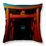 Gates Of Inari Throw Pillow