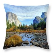 Gates Of The Valley Throw Pillow