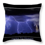 Gates To Heaven Color Poster Throw Pillow