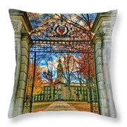 Gates To Knowledge Princeton University Throw Pillow