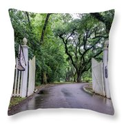 Gates To Myrtle's Plantation In La Throw Pillow