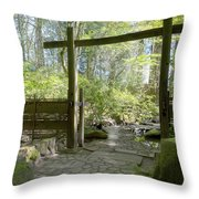 Gateway And Stone Path Throw Pillow