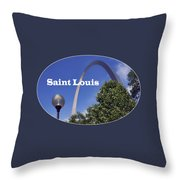 Gateway Arch - Saint Louis - Transparent Throw Pillow