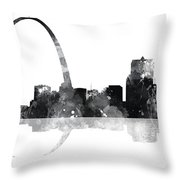 Gateway Arch St Louis Missouri Skyline Throw Pillow