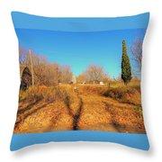 Gateway To A No Trespassing Farm Throw Pillow