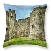 Gateway To Chepstow Castle Throw Pillow
