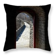 Gateway To Great Wall Throw Pillow