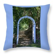 Gateway To Heaven Throw Pillow by Myrna Migala