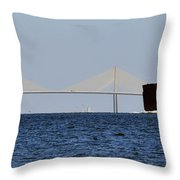Gateway To Tampa Bay Throw Pillow by David Lee Thompson