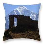 Mt Veronica And Inti Punku Sun Gate Throw Pillow