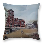 Gateway To The Queen City Throw Pillow