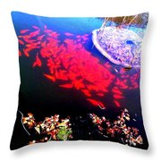 Gather Gold Fish Throw Pillow