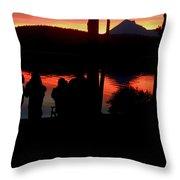 Gathered At Sunset Throw Pillow