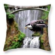 Gathering Of Eagles Throw Pillow