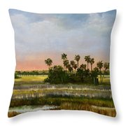 Gathering Of The Palms Throw Pillow