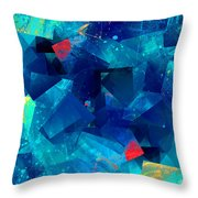 Gathering Of The Squares Throw Pillow