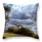 Gathering Storm Clouds Throw Pillow