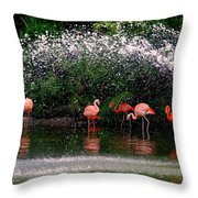 Gathering Together Throw Pillow