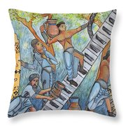 Gathering Water In The 13th Century Throw Pillow