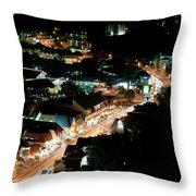 Gatlinburg, Tennessee At Night From The Space Needle Throw Pillow
