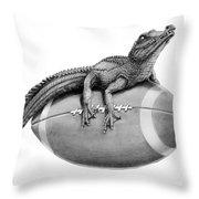 Gator Football Throw Pillow