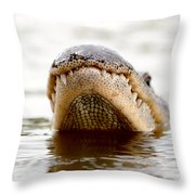 Gator Grin Throw Pillow