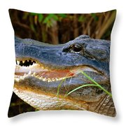 Gator Head Throw Pillow
