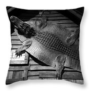 Gator Hide Throw Pillow
