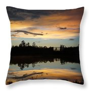 Gator In The Sky Throw Pillow