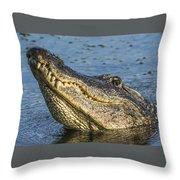 Gator Lean Throw Pillow