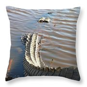 Gator Tail Throw Pillow