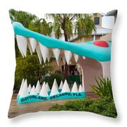 Gatorland In Kissimmee Is Just South Of Orlando In Florida Throw Pillow
