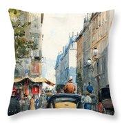 Gatubild Paris Throw Pillow
