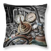 Gauges And Tanks For Cutting Torches Throw Pillow