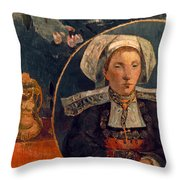 Gaugin: Belle Angele, 1889 Throw Pillow