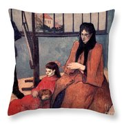 Gaugin: Family, 1889 Throw Pillow