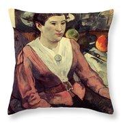 Gaugin: Marie Derrien, 1890 Throw Pillow