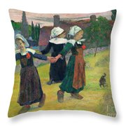 Gauguin, Breton Girls, 1888 Throw Pillow