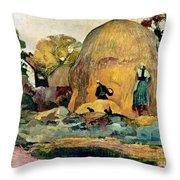 Gauguin: Haystacks, 1889 Throw Pillow