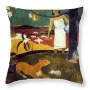 Gauguin: Pastoral, 19th C Throw Pillow