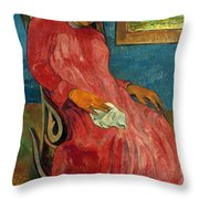 Gauguin: Reverie, 1891 Throw Pillow