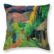 Gauguin Tahiti 19th Century Throw Pillow
