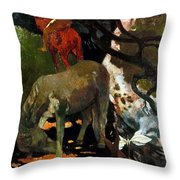Gauguin: White Horse, 1898 Throw Pillow